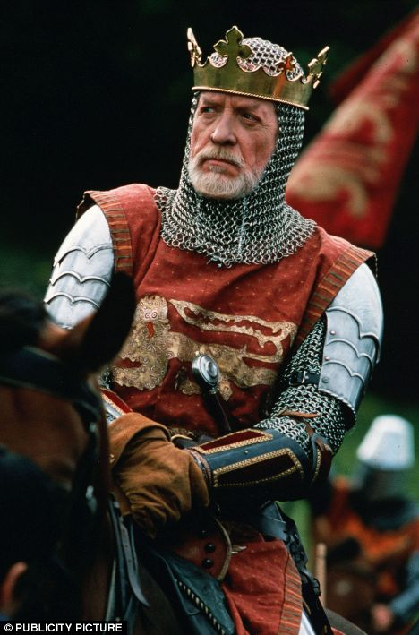 Patrick McGoohan as Longshanks King Edward I in the blockbuster Braveheart